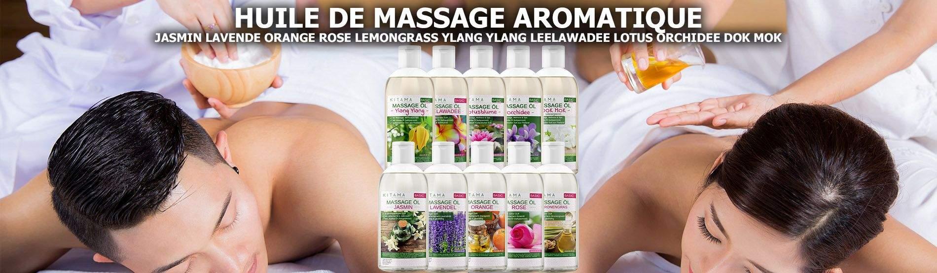 Huile de massage aromatisée
