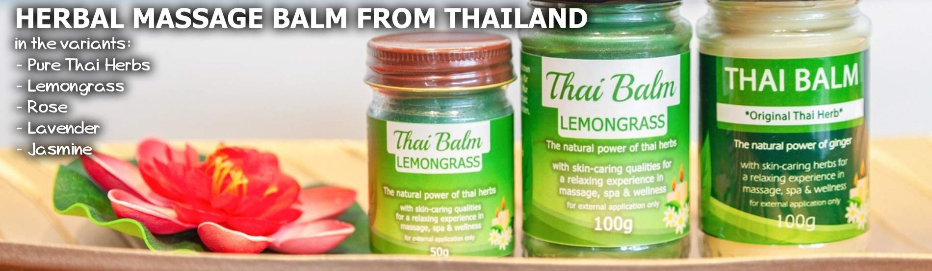 Herbal massage thai balm