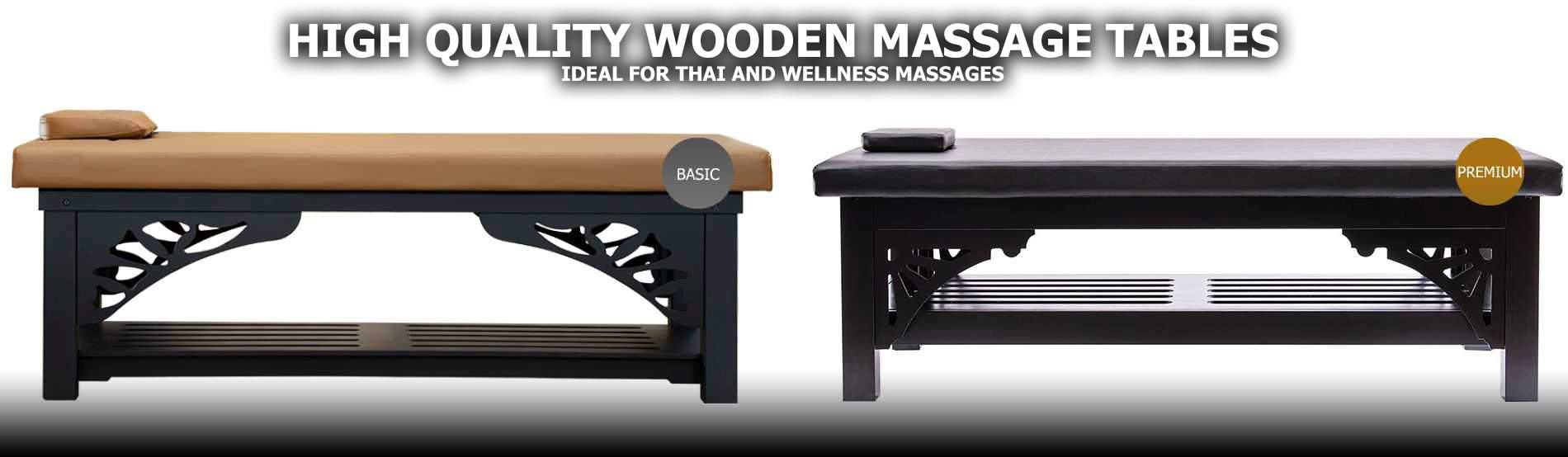 wooden massage tables thaimassage