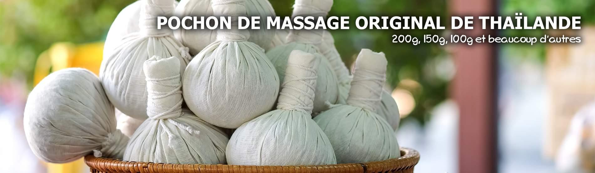 Pochon d'herbes pour massage de Thaïlande