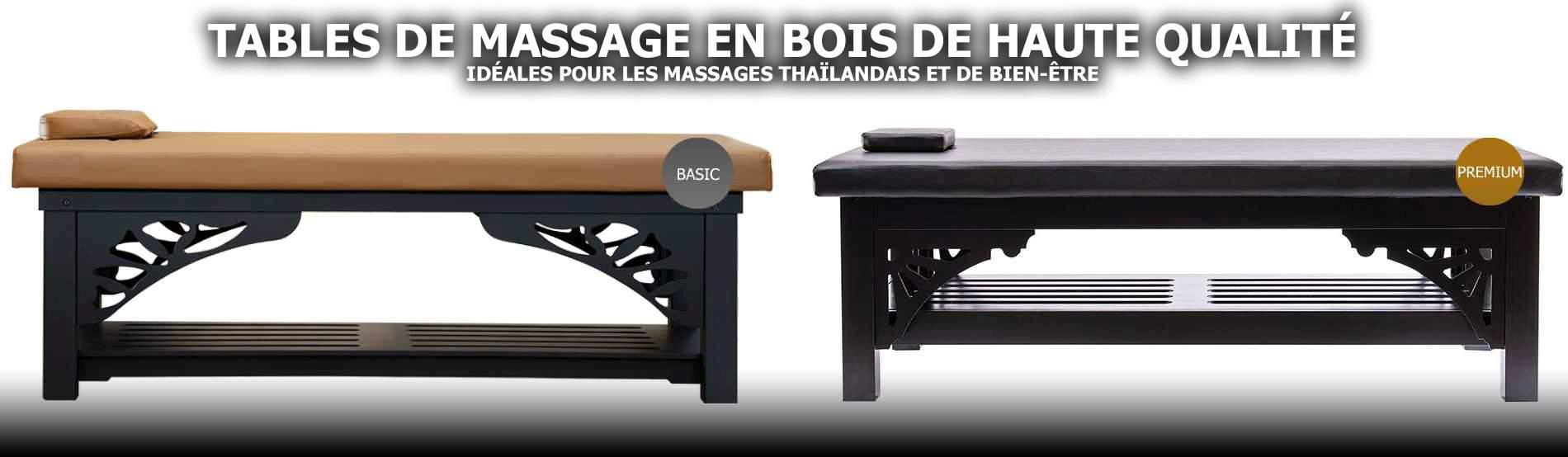 Tables de massage professionnelles en bois